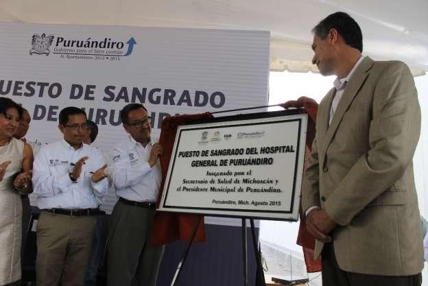 Inauguran puesto de sangrado en Puruándiro, Michoacán