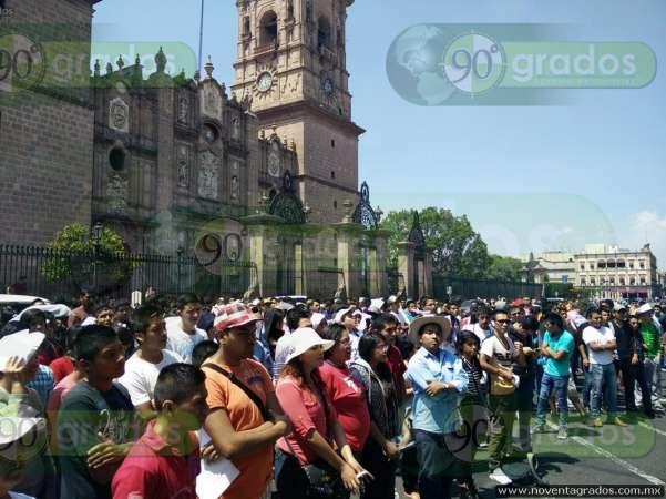 Se movilizan en Morelia jóvenes rechazados