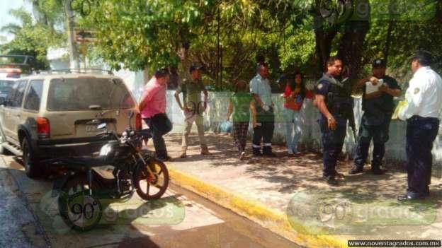 Motociclista atropella a joven fémina en Apatzingán, Michoacán