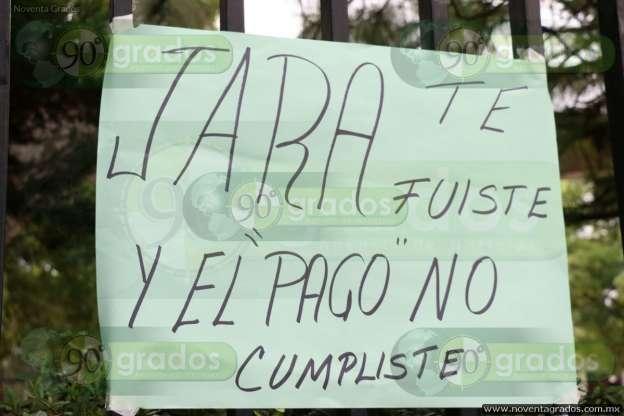 Bloquea CNTE secretaría de finanzas en Morelia; iniciarán marcha