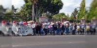 CNTE marcha rumbo a Casa de Gobierno