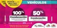 A partir de hoy, condonación de 100% en multas y recargos en trámites vehiculares, anuncia SFA