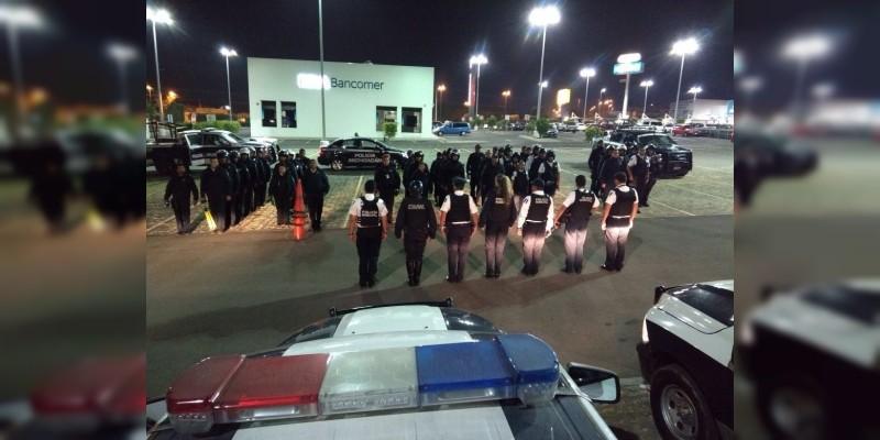 Implementa Policía de Morelia operativo preventivo en zona sur y norte de la ciudad