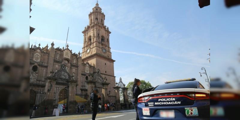 Culmina sin incidentes movilización en Morelia