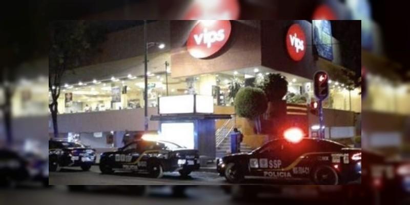 Balean un VIPs en Insurgentes, Ciudad de México