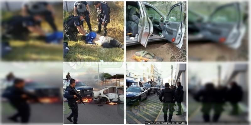Enfrentamiento en Tangancícuaro dejó un muerto y dos policías heridos
