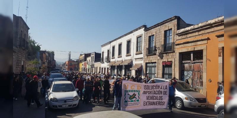UCD se manifiesta frente a la Secretaría de Hacienda