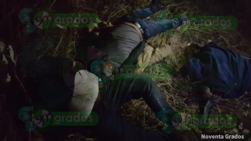 Hallan 3 personas ejecutadas en Puruándiro, Michoacán