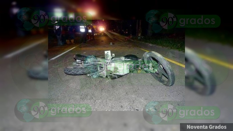 Muere motociclista por accidente vial en Puruarán, Michoacán