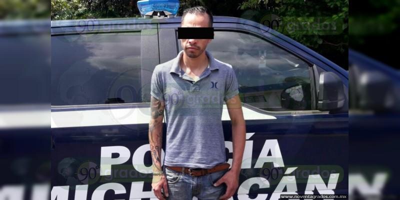 Lo detienen con metanfetamina en Uruapan, Michoacán