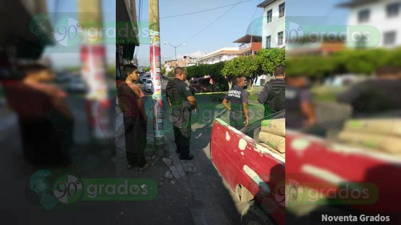 Asesinan a individuo en Uruapan, Michoacán