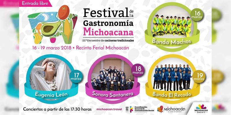 Cartel del Festuval de la Gastronomía Michoacana 2018