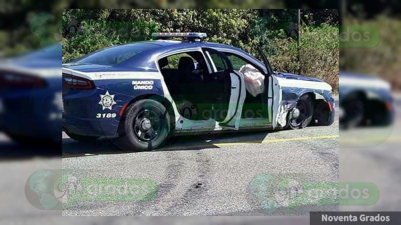 Patrulla de la Policía Michoacán sufre accidente en Múgica ...