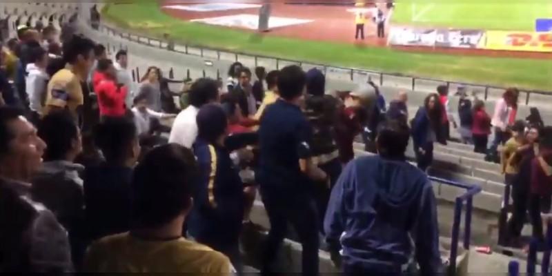 Aficionados de Pumas atacaron a fanáticos de Necaxa