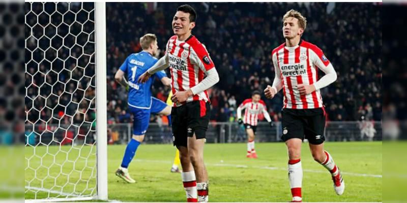 Chucky Lozano regresó de la suspensión y anotó con el PSV