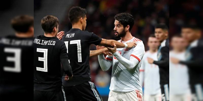España aplastó 6-1 a la Albiceleste