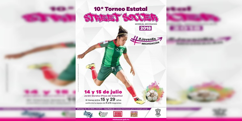 Emite Ijumich convocatoria del décimo Torneo Estatal de Street Soccer