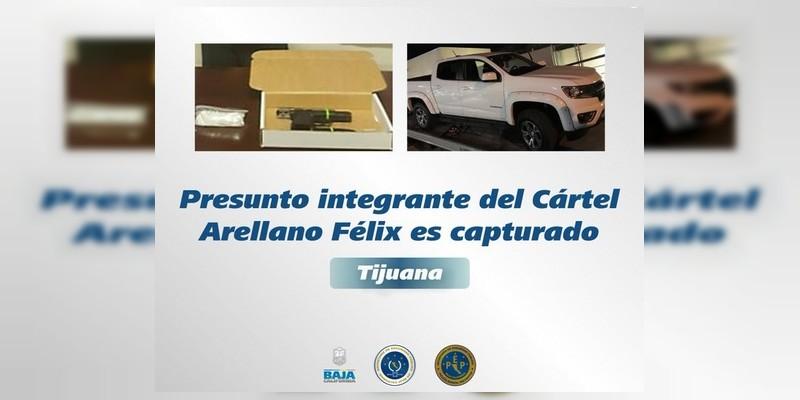 Detienen a importante operador de los Arellano Félix en Tijuana, Baja California