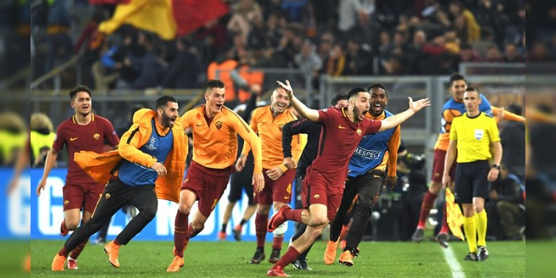 En histórica remontada, Roma elimina al Barca de Champions League