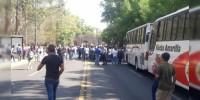 Normalistas bloquean la avenida Ventura Puente en Morelia