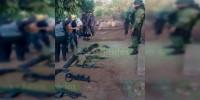 Desmantelan narcocampamento y detienen a siete hombres armados en Ario, Michoacán