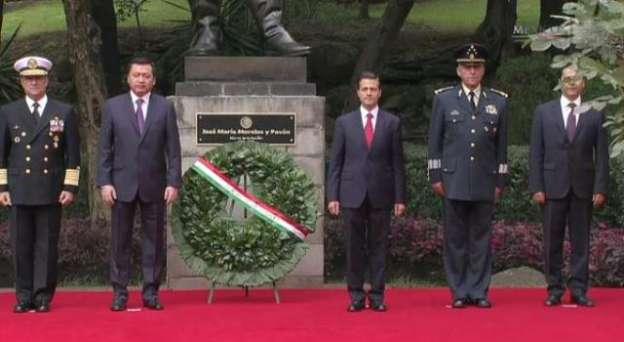 Encabeza Enrique Peña Nieto 250 aniversario del natalicio de José María Morelos