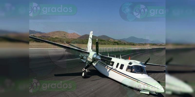 Se accidenta avioneta donde viajaría el Secretario de Turismo de Guerrero