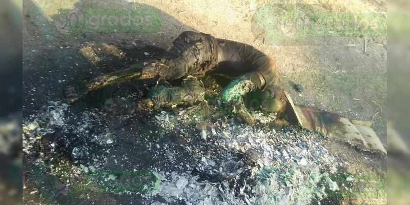 Cadáver calcinado encontrado en Celaya, era de un policía