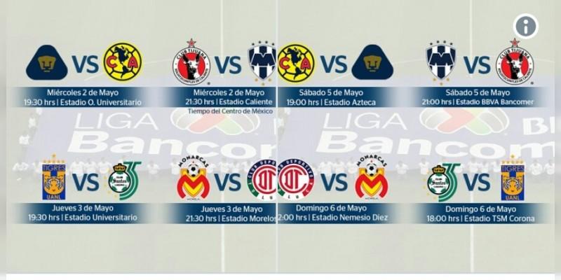 Definen horarios para La Liguilla del fútbol mexicano - Noventa ... dd94b938e1b86
