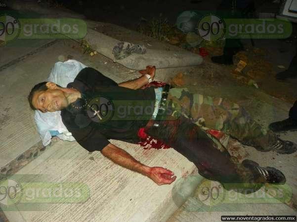Lo asesinan a balazos en calles de Apatzingán, Michoacán