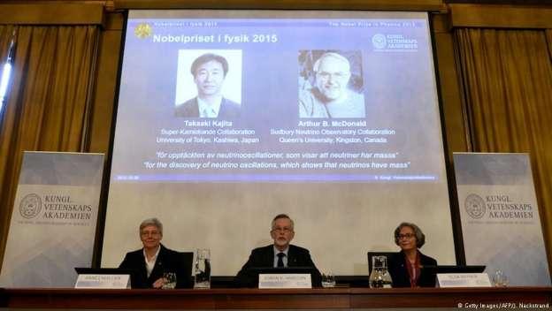 Dan Premio Nobel de Física a científicos que demostraron que el neutrino tiene masa