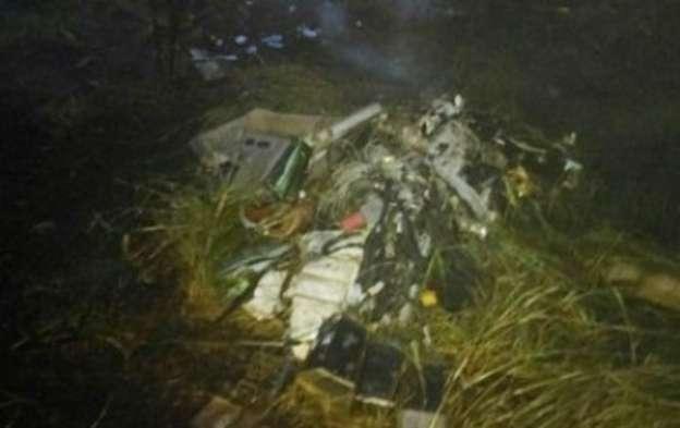 Se desploma helicóptero en Veracruz; hay dos muertos
