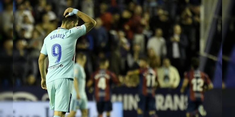 Increíble, Barcelona pierde el invicto contra el Levante