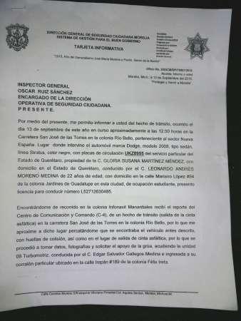 Sujeto se presume como funcionario del Ayuntamiento de Morelia para amedrentar