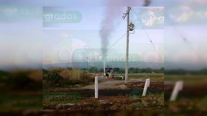 Fuga de gas en un ducto de Pemex en Celaya provoca cierre del Libramiento