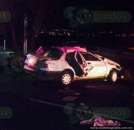 Una persona fallecida y una menor lesionada saldo de accidente sobre la Morelia - Salamanca