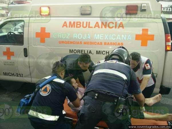 Se convulsiona sujeto en el Centro Histórico de Morelia