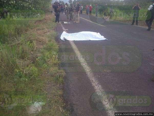 Tres adultos y un menor muerto, saldo de accidente vial en Aguililla, Michoacán