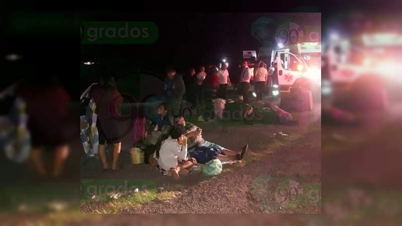 Choque en la carretera Morelia – Pátzcuaro deja 7 lesionados