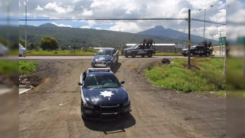 Operativo de seguridad en la Meseta Purépecha por toma de caseta y balacera en Paracho