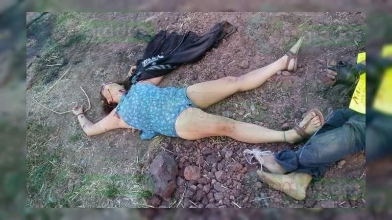 Encuentran cadáveres de un hombre y una mujer con narcomensaje en Jaral de Progreso, Guanajuato