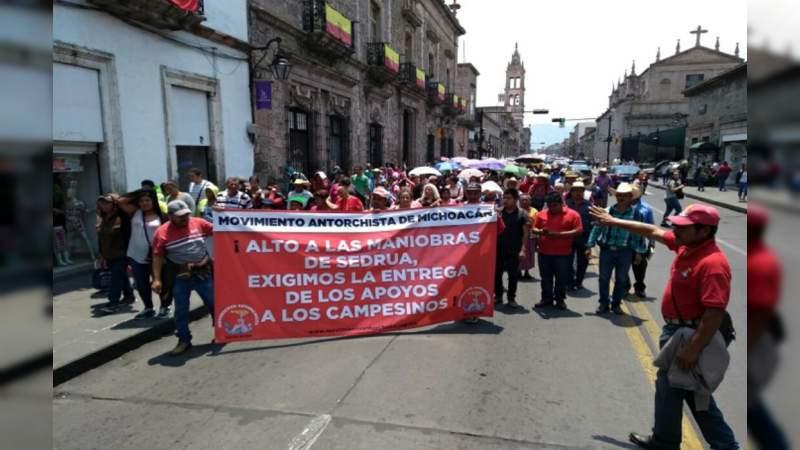 Antorcha Campesina marcha este jueves en Morelia