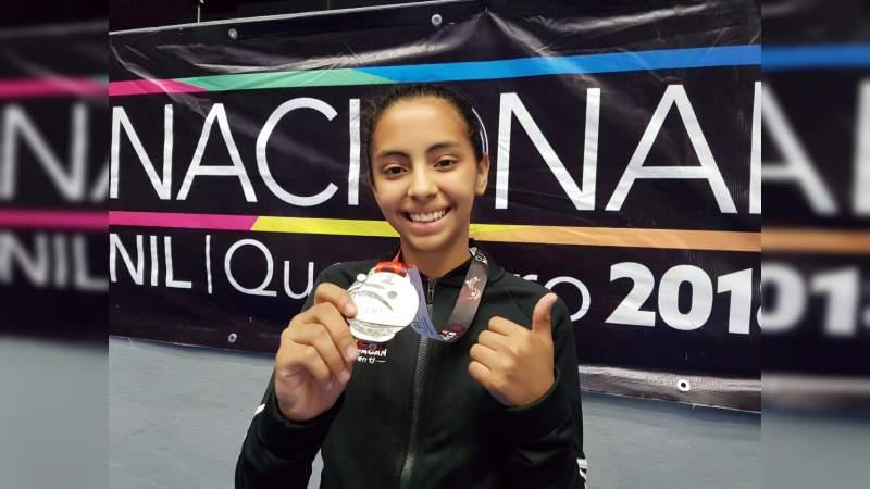 Yunuén Vázquez, michocana que obtuvo el subcampeonato nacional de judo