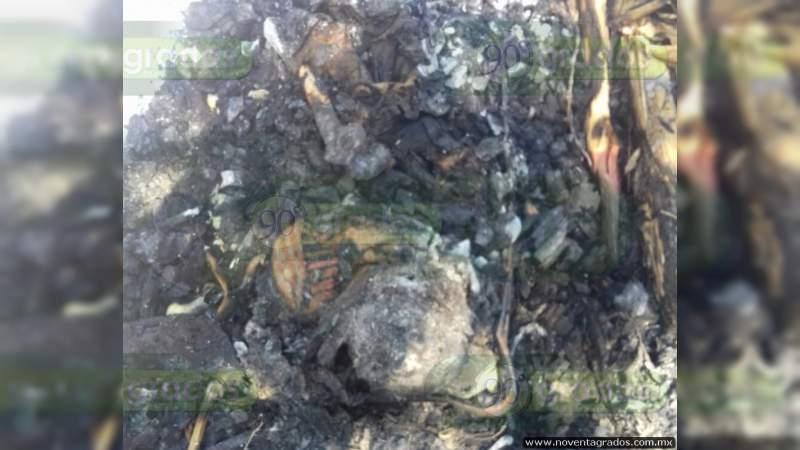 Calcinado, hallan cadáver en Celaya, Guanajuato
