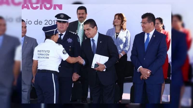 Michoacán avanza en la certificación única policial