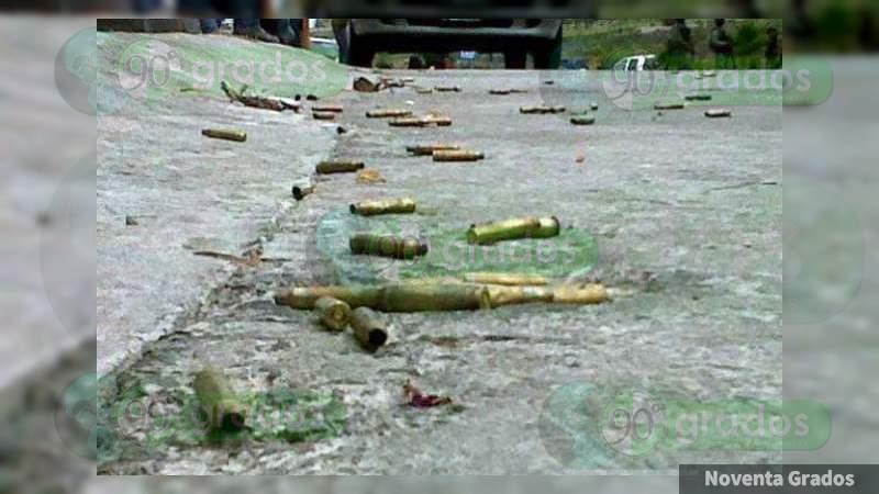 Asesinan a agente de la Policía Michoacán en balacera en Apatzingán