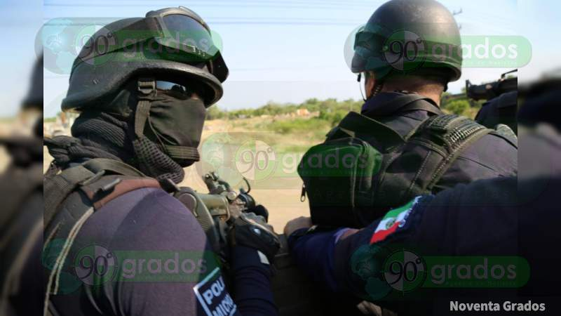 Mueren cuatro policías auxiliares en enfrentamiento
