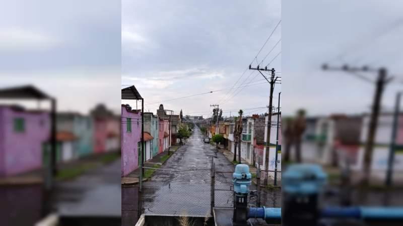 Sin afectaciones mayores en Morelia tras lluvias de esta tarde