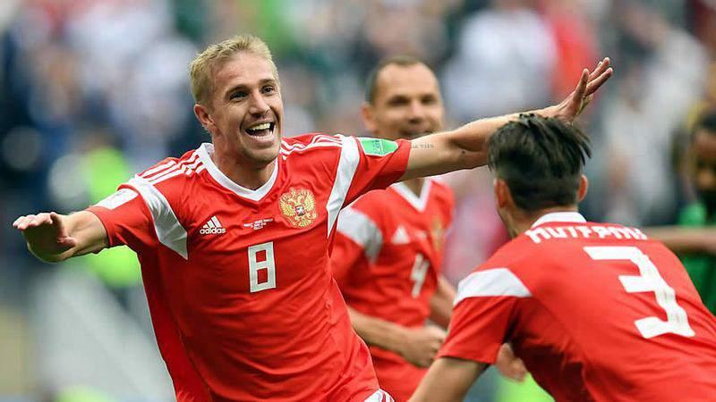 Yuri Gazinsky anotó el primer gol del Mundial