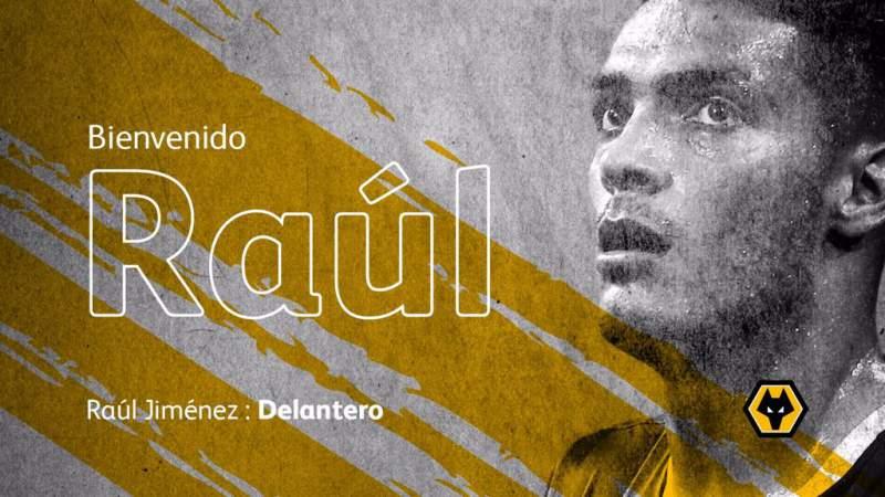 Raúl Jiménez es fichado por el Wolverhampton de Inglaterra